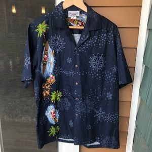Pacific Legend Santa Christmas Hawaiian Shirt Med